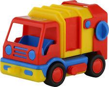 WADER Basics-Series Spielzeug Müllwagen Fahrzeug Müllauto 19cm mit Mülleimer