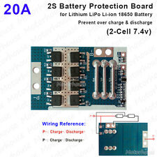 2S 20A  7.4V Lithium Li-ion 18650 Packs BMS Battery Discharge Protection Board