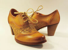 Spring Step L'Artiste AGILA Natural Tan Etched Lace Up Oxford 36 / 6