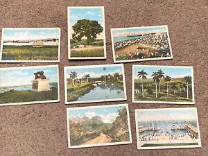 Lot of 8: Cuba postcards. Havana,, Santiago, Del Rio, Guantanamo, Misc