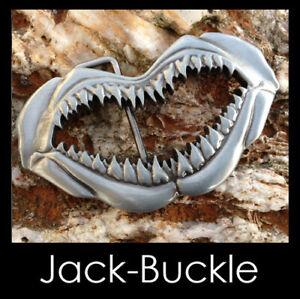 Gürtelschnalle Shark Hai Gebiss Zähne Buckle 239
