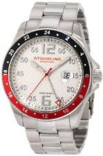 NEW Stuhrling Original Mens 289.332TT12 Aquadive Regatta Galleon Swiss Watch Red