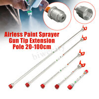 Airless Paint Sprayer Spray Gun Tip Extension Pole Length 30 50 75 100cm