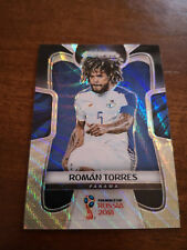 2018 Panini Prizm World Cup Roman Torres #224 Black and Gold Wave Panama