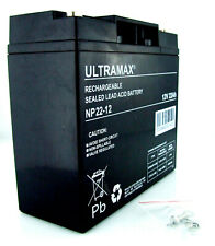 Solar Booster Pac 12V 22ah Jump Starter Replacement Ultramax Battery
