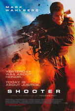 SHOOTER Movie POSTER 27x40 B Mark Wahlberg Michael Pe a Danny Glover Kate Mara