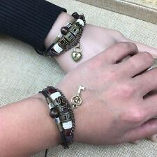 His and Hers Lock Key Couples Lovers Friendship Valentines Bracelets-Ships Fast
