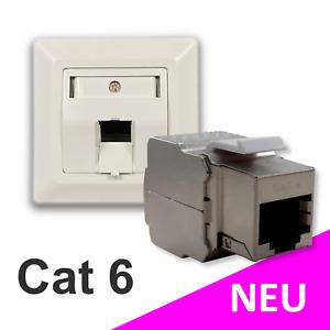 Datendose Netzwerkdose 1-Port Unterputz RJ45 inkl. Cat 6 Keystone Modul