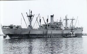 """SHIP PHOTO: U.S. VICTORY SHIP FREIGHTER """"BESSEMER VICTORY"""". BUILT  1945 ."""