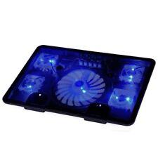 """Y1R4 NA JU Laptop Cooler Pad 14"""" 15.6"""" 17"""" with 5 fans 2 USB Port slide-proof st"""
