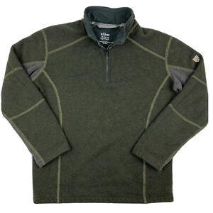 Kuhl Kashmira 1/4 Zip Sweater Boys Youth Medium (10-12) Olive Green Gray