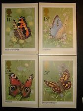 1981 BUTTERFLIES PHQ CARDS x 4 (sg51a-d) NEW AND UNUSED CV £6