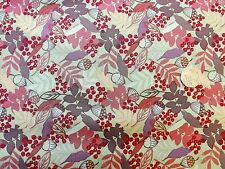 Autumn Fields leaves Fabric fq 50x56 cm 100% Cotton Lewis & Irene A113-3