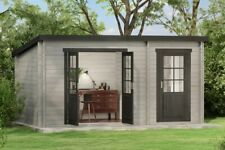Gartenhaus Gerätehaus Maria aus Holz 450x250cm Blockhaus Laube mit Extraraum