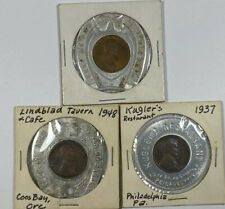 1937 1939 1948 Encased Lincoln Wheat Cents Hotel Gowman Kuglar's Lindblad Tavern