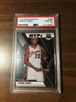 2019-20 Panini Lebron James PSA 10 GEM MINT MVP #298 Mosaic Card Lakers New