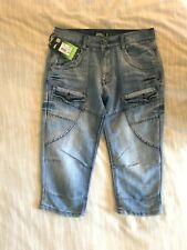 Men's No Fear Cargo fit Denim shorts in size small-NEW