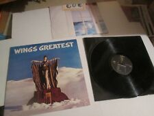PAUL MCCARTNEY WINGS GREATEST LP with Double Sided Poster '78 beatles ORIG EXC