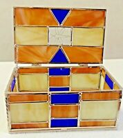 STAINED GLASS TRINKET JEWELRY BOX