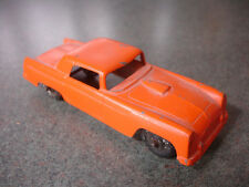 Old Vtg  Orange Diecast Tootsietoy Ford Thunderbird Car Toy Made In USA