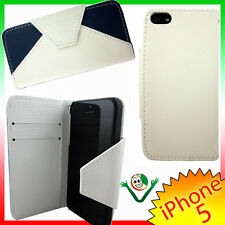 Custodia URBAN eco pelle per iPhone 5 5S SE BLU cover martellata protezione book