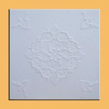 SAVONA White Styrofoam Ceiling Tile - EASY INSTALATION Glue up