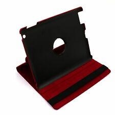 PU Lichee style 360° Magnetic Leather Case Smart Cover Stand fit Ipad 2 Ipad 3