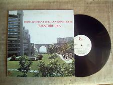 Prima rassegna della canzone ligure - MENTORE BO - genoa folk  81   LP 33