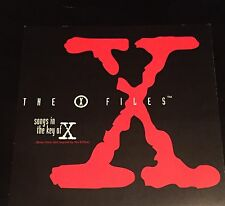"""THE X FILES POSTER 1996 SOUNDTRACK SONGS IN THE KEY OF X 12""""X12"""" MINT"""