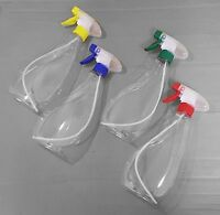 FOUR PACK Trigger Spray Bottles 4 x 500ml  - MIXED COLOURS