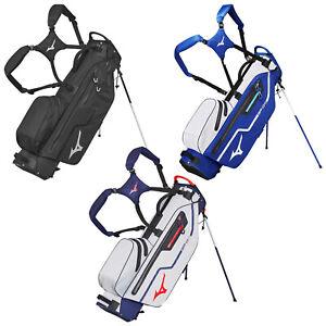 Mizuno Mens BR-DRI Waterproof Stand Golf Bag Dual Strap Carry 4 Way Divider