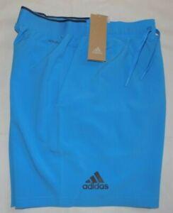 Adidas Men's Regular Fit Club SW Shorts Fresh Splash L Inseam 7 Inch New