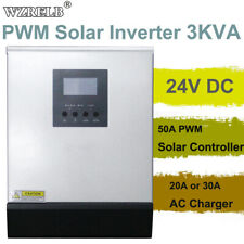 Solar Hybrid Inverter 24V 220V 3kva Pure Sine Wave Power 50A Pwm 30A Ac Charger