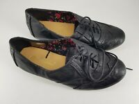 Atmosphere size 3 (36) black faux leather lace up brogues school shoes flats