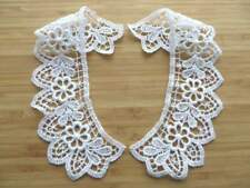 Top quality guipure lace collars 1 pair white matt cotton