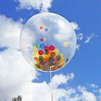 "6 Rainbow Confetti Balloons 18"" DIY Kit 50g Confetti Birthday Party Decor"