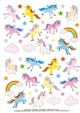 Huge Current Brand Unicorn Rainbow Sticker Sheet Ponies Princess