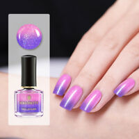 BORN PRETTY Shimmer Lila Thermische Nagellack Color-changing Peel Off Varnish