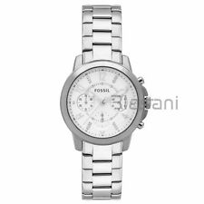 Fossil Original ES4036 Women's Gwynn Silver Stainless Steel Watch 38mm Chrono