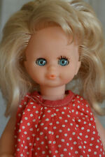 "Vintage 60s French Plastic Doll, 10"" Noustyl Brand, Blonde Sleep Eyes"
