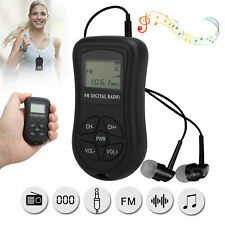 Mini Digital Portable Pocket LCD FM Radio Receiver Rechargeable with Earphone