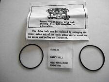 Lionel Drive Belts (2) New 3540 3512 3545, Radar Car, Fire Car, Tv Car W/Inst's