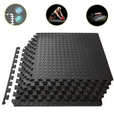 Exercise Floor Mat Gym Garage Home Tiles Rubber Flooring Fitness Yoga Workout