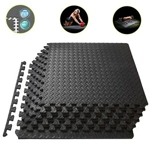 Exercise Floor Mat Gym Garage Home Tiles Flooring Fitness Yoga Workout