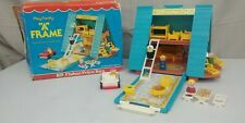 Vintage 1974 Fisher-Price A Frame House #990 & Original Box 100% Comp. Shelf 2UP
