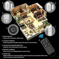 Home and Business WiFi Security Alarm System works W/ Alexa Remote or Phone App