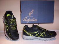 Australian scarpe sportive ginnastica sneakers running uomo tela nere shoes men