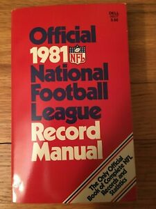 Official 1981 National Football League Record Manual - Dell pbk - VG condition