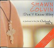 SHAWN COLVIN I don't Know why 3 LIVE TRX CD single SEALED Mary Chapin Carpenter