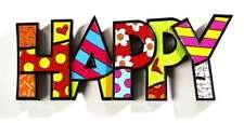 Romero Britto word art : HAPPY